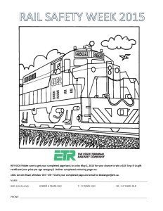 Colouring Page Rail Safety